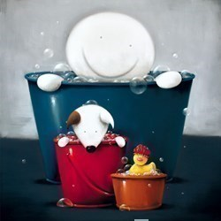 Rub A Dub Dub by Doug Hyde - Limited Edition on Paper sized 20x20 inches. Available from Whitewall Galleries